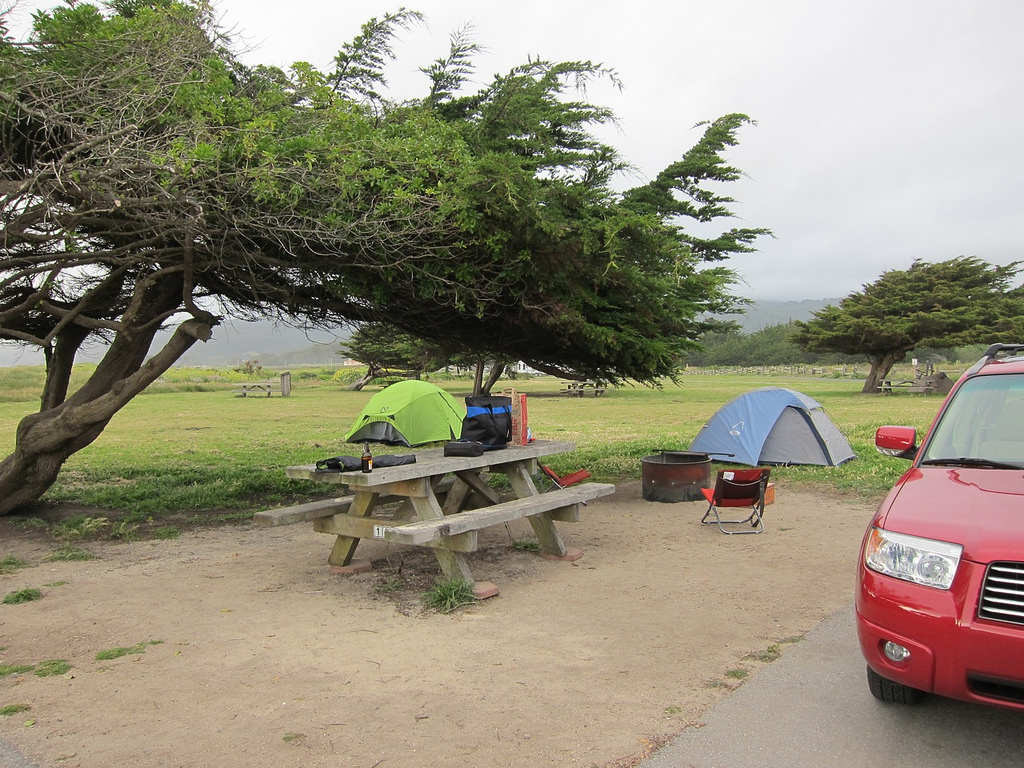 Bluebikes Motorcycle Adventures Campsite Review Half Moon Bay State Beach